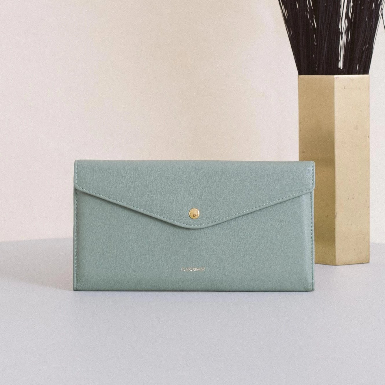 Large Edna Wallet - Dusty Green (ONLY 1)
