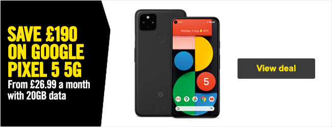 Save 190 GBP on Pixel 5