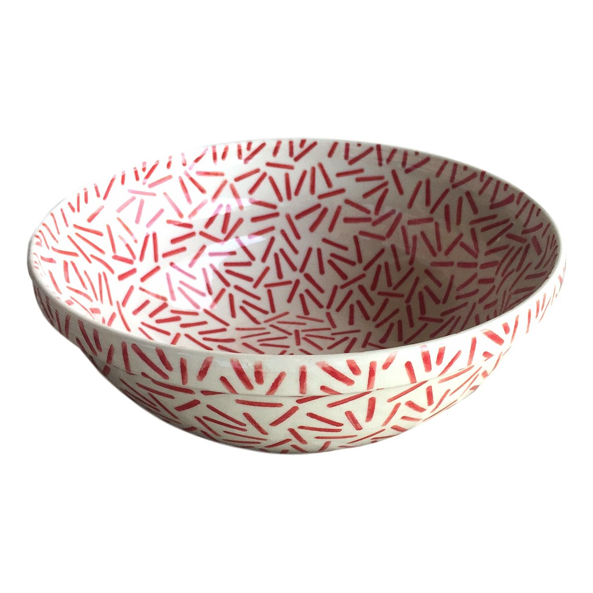 Opt Art Red - Medium Serving Bowl