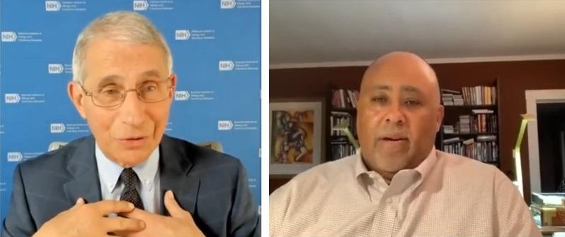 photos of Anthony Fauci and Lawrence Bobo
