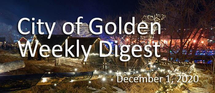 Weekly Digest December 1 2020