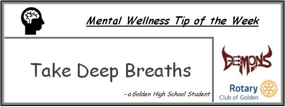 Take deep breaths