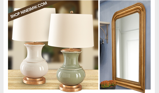 BEAUTIFULLY CRAFTED HOME FURNISHINGS ADD A TOUCH OF ELEGANCE - WALL MIRRORS - TABLE LAMPS - FLOOR LAMPS