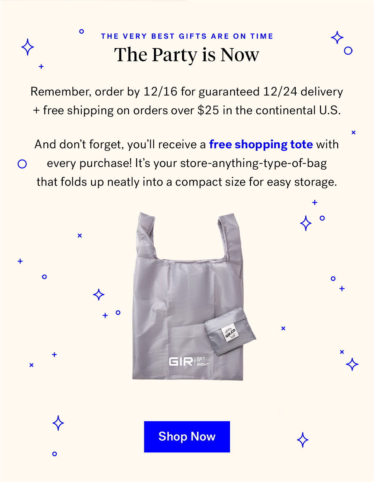 The very best gifts are on time