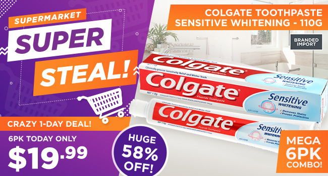 Colgate Sensitive Whitening Toothpaste - 6 Pack
