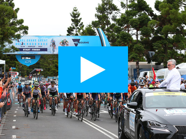 Cadel Road Race starting line