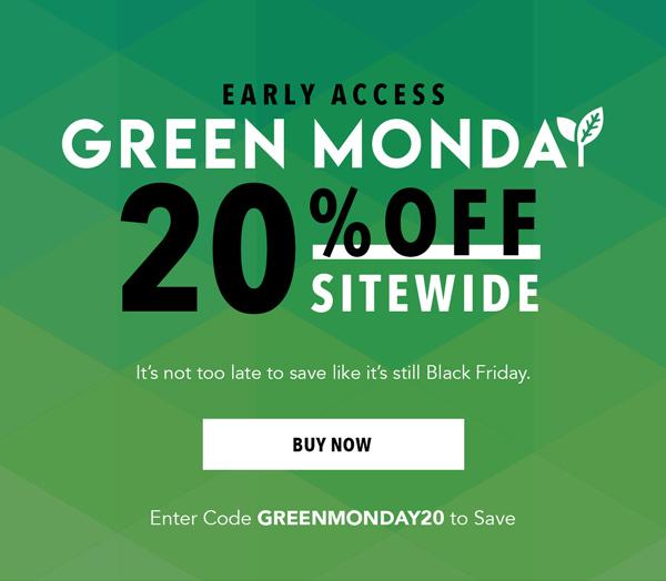 Green Monday Sale   Shop Now