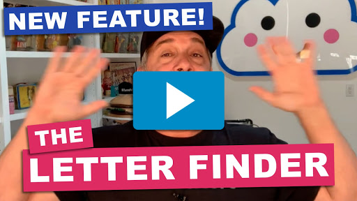 new feature - letter finder