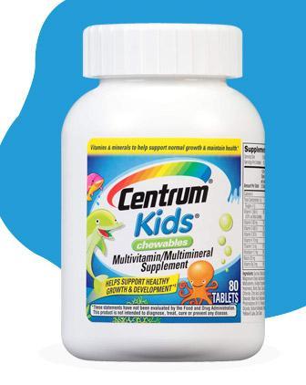 Centrum Kids Chewables Multivitamin / Multimineral Tablet - 80 Count