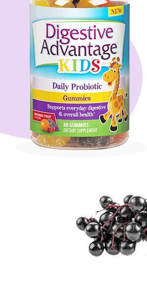Digestive Advantage Kids Daily Probiotic Gummies - Survives Better Than 50 Billion - 60 Count