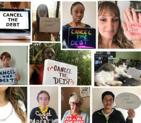 "CAFOD supporters sharing their ""cancel the debt"" pictures"