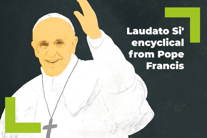 An illustration of Pope Francis