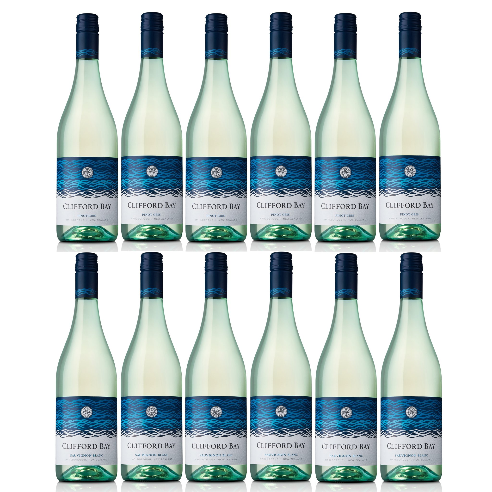 Clifford Bay Sauvignon Blanc and Pinot Gris Pack (12 bottles in total)