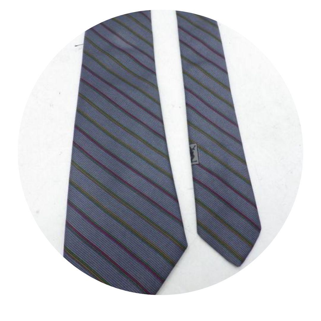 Yves Saint Laurent Blue Gray Tie