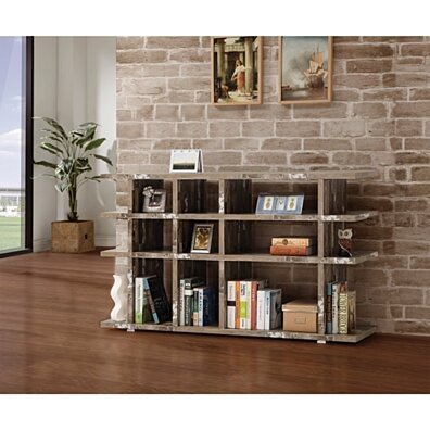 Embellishing Wooden Open Bookcase, Brown