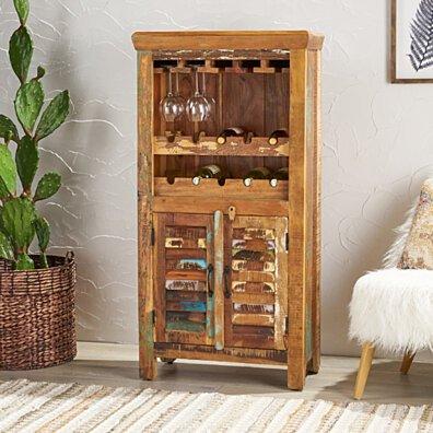 Sandy Wooden Bar Cabinet