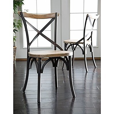 Trendy Set of 2 Urban Reclamation Deluxe Dining Chair by Walker Edison