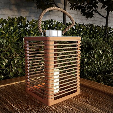 Solar or Battery Powered Lantern LED Candle Indoor Outdoor Flameless Table Lighting