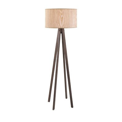 Modish Meridian Wood Floor Lamp