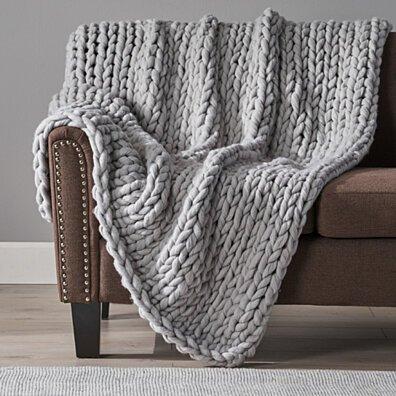 Jacqueline Acrylic Fabric Throw Blanket