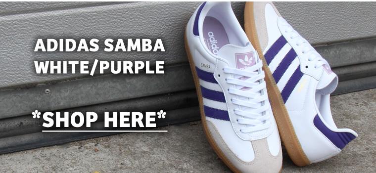 Adidas Samba White Purple