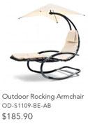 Outdoor Rocking Armchair