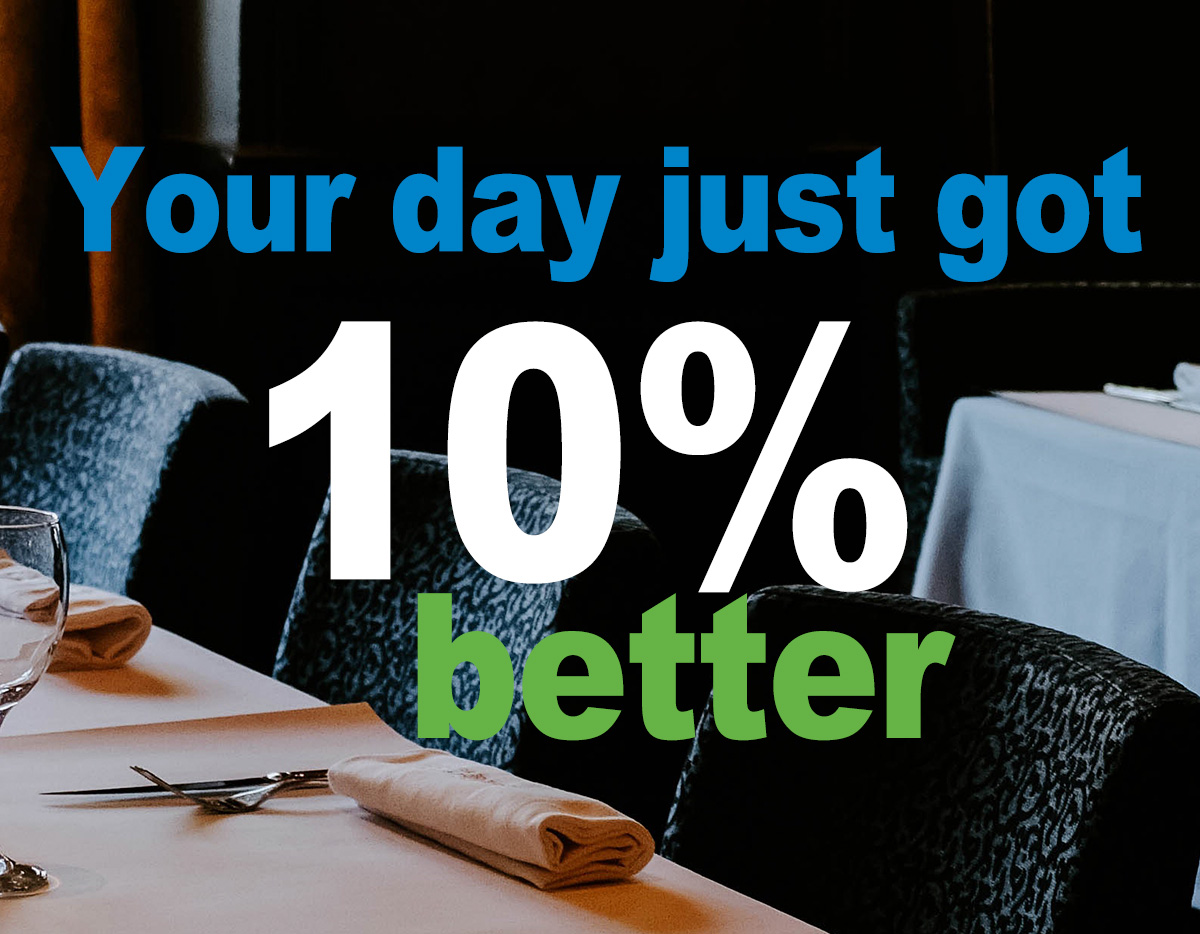 Your day just got 10% better with 10% off Value Series Melamine and Flatware