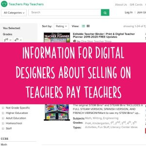 Information for Digital Cut File Designers About Selling on Teachers Pay Teachers - Silhouette Portrait or Cameo and Cricut Explore or Maker - by cuttingforbusiness.com