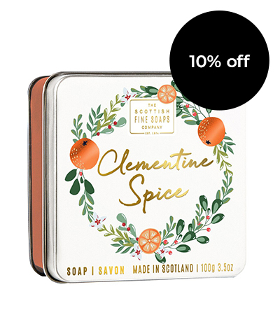 Clementine Soap in a Tin | Scottish Fine Soaps