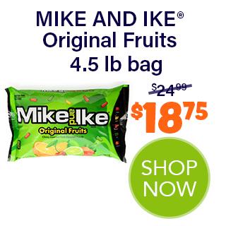 MIKE AND IKE bulk - Original Fruits  4.5 lb bag - $18.75 - SHOP NOW