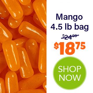 MIKE AND IKE bulk - Mango  4.5 lb bag - $18.75 - SHOP NOW