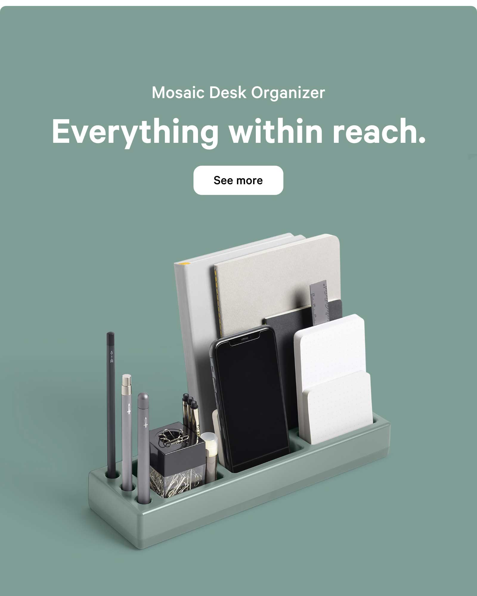 Mosaic Desk Organizer. Everything within reach. See more ?