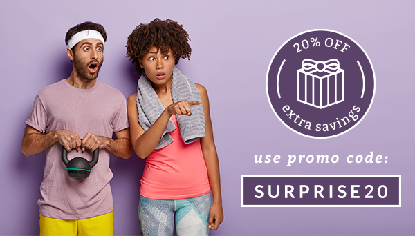 Use promo code SURPRISE20 for an extra 20% off select products!