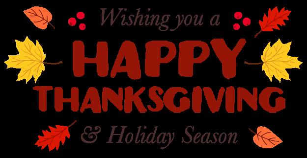 Happy Thanksgiving & Holiday Season
