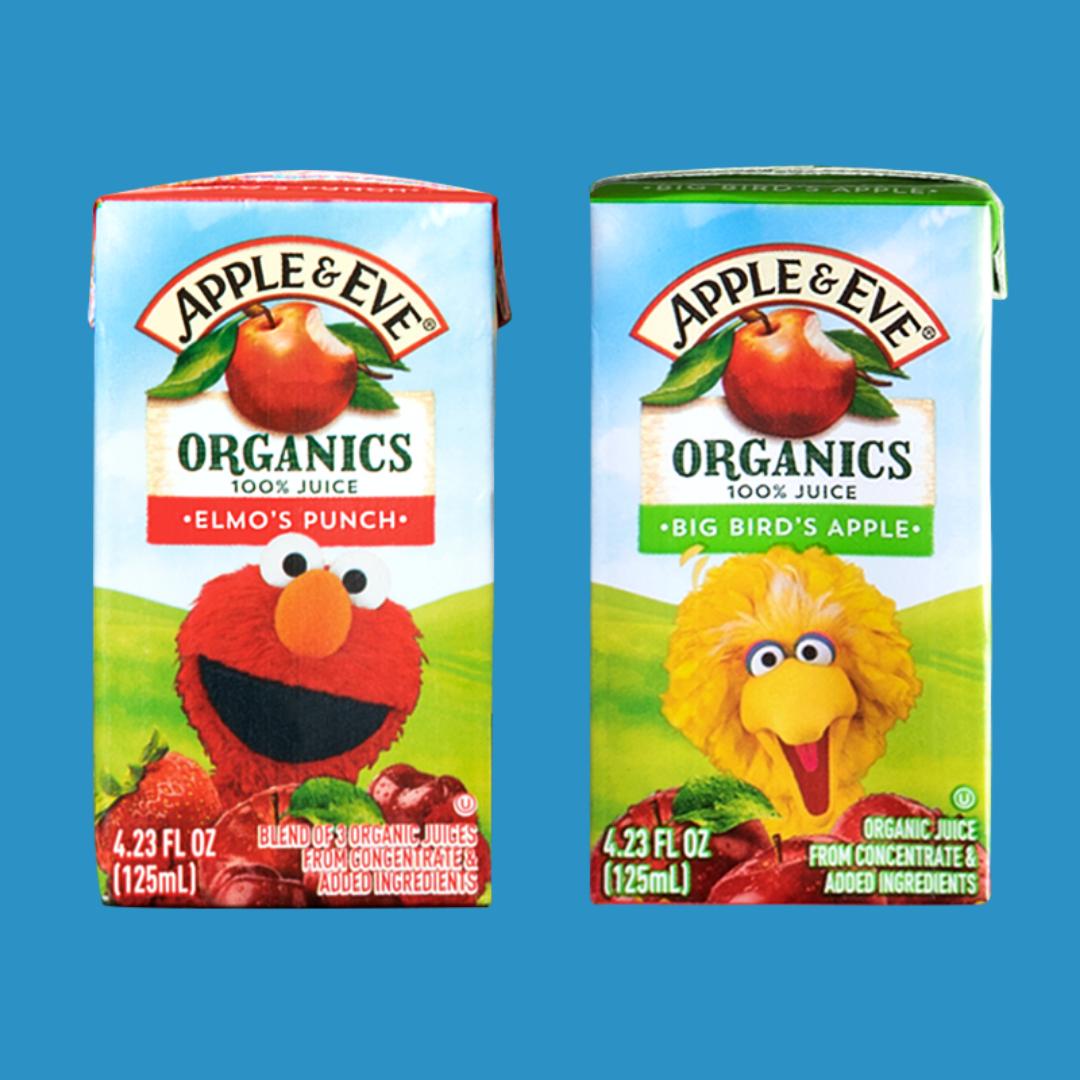 Apple & Eve juice boxes