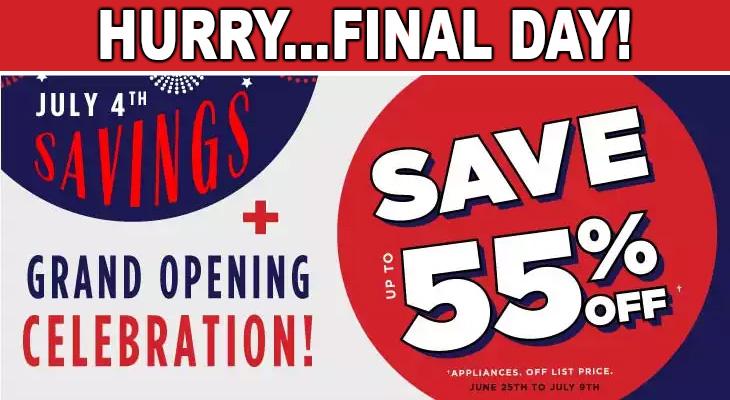 July 4th Savings - FINAL DAY!