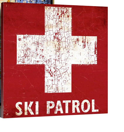 Ski Patrol Sign by Peter Horjus