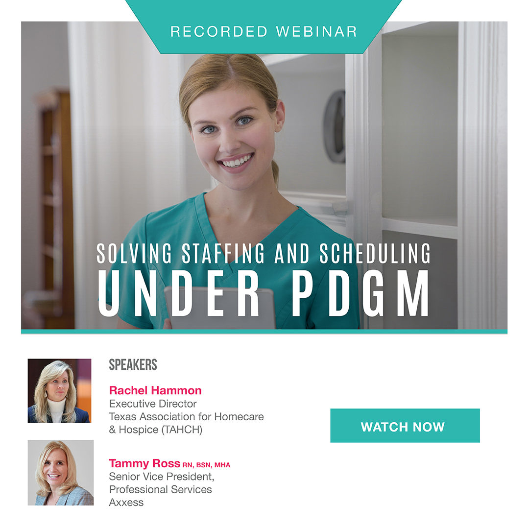 Solving Staffing and Scheduling Under PDGM