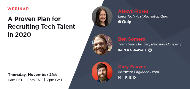Recruiting tech talent in 2020 webinar