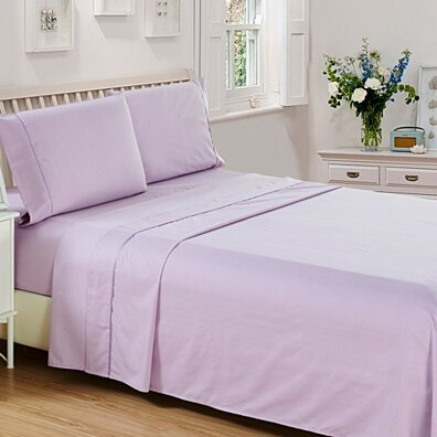 Hotel Quality - Checkered 4 Piece Deep Pocket 1800 Series Bed Sheet Set All Sizes
