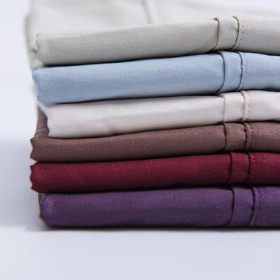 4 Piece Sheet Sets 300 Thread Count 100% Cotton Queen and King Bed Sheet Set, 2 Pillowcases 1 Flat Sheet 1 Mattress Cover