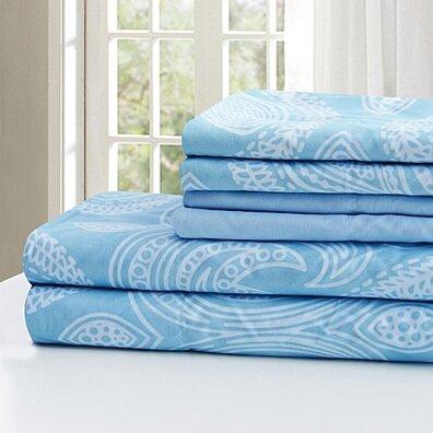Ultra Soft Paisley Printed 6 Piece Bed Sheet set