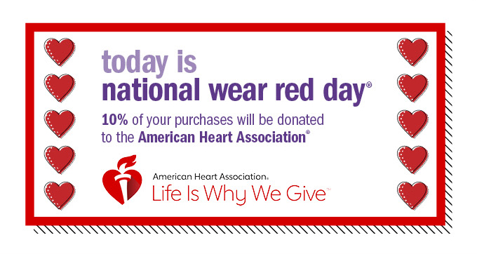 today is national wear red day®