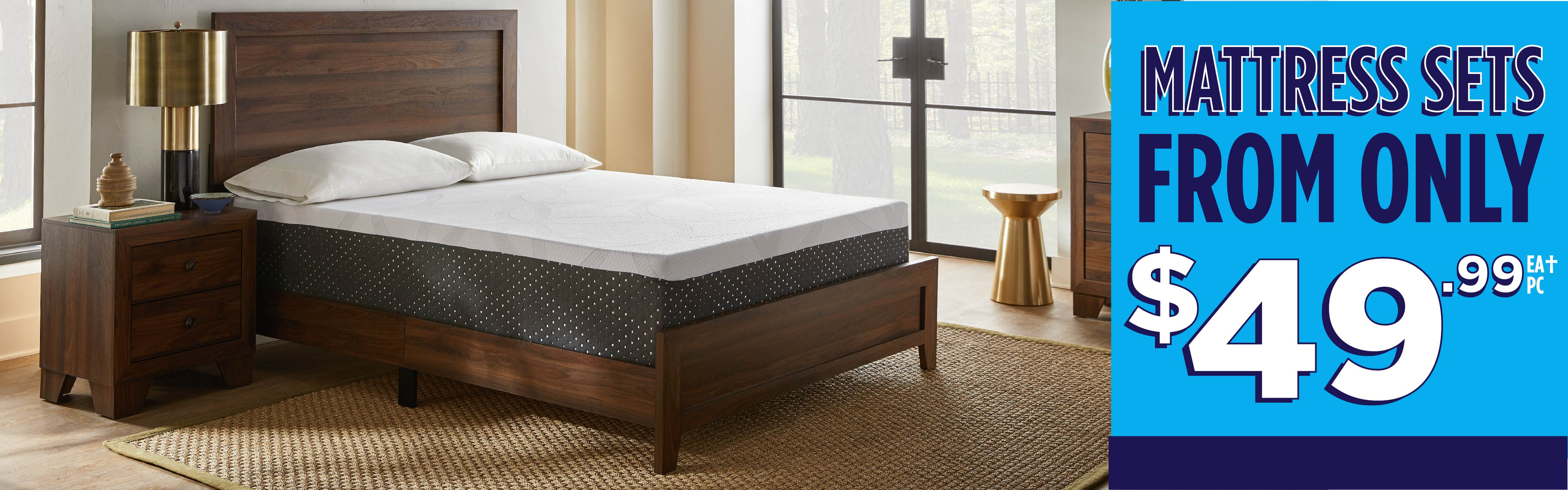 Mattress Sets from only $49.99!