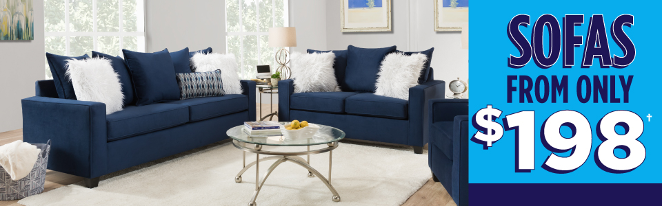 Sofas from only $198