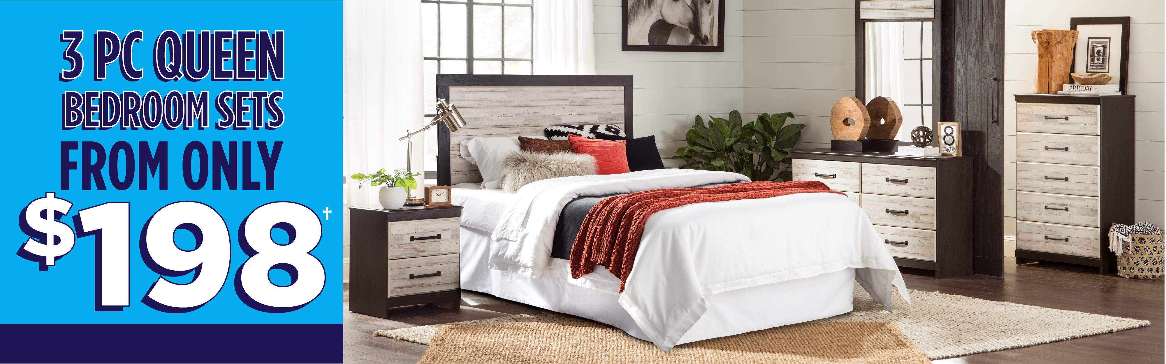 3-pc. Bedroom Sets from only $198!