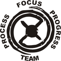 Focus Wheel logo black on clear smaller