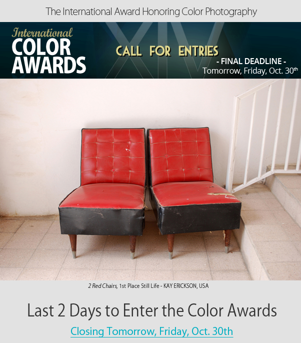 Last 2 Days to Enter the Color Awards - Closing this Friday, October 30th