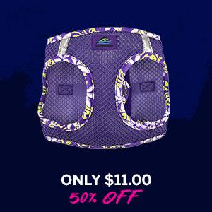American River Hawaiian Trim Choke-Free Dog Harness by Doggie Design - Paisley Purple