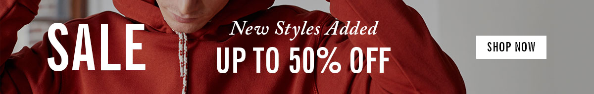 New styles added to sale | Up to 50% off | Shop Now